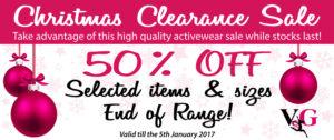 Christmas Activewear Clearance Sale