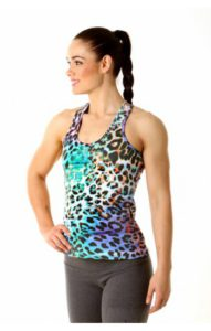COLOUR EXPLOSION TBAR TWIST TOP WITH INNER SUPPORT BRA