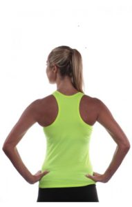 LUMO YELLOW COTTON LYCRA ZIP TOP